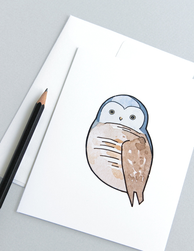 illustration owl card