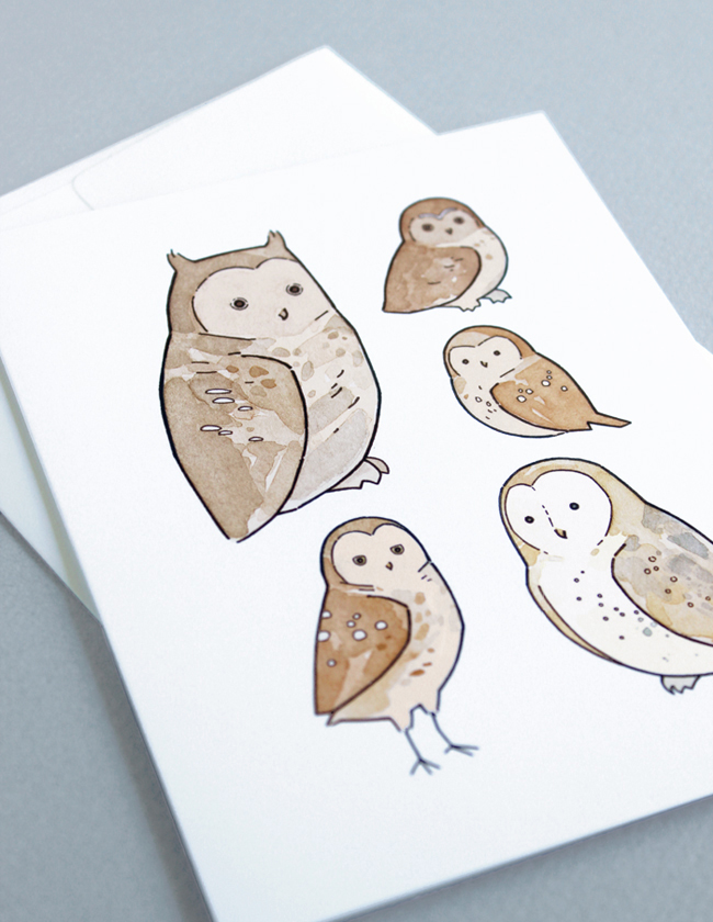 owls drawing card