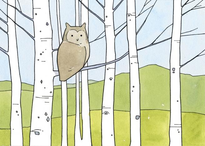 aspens owl art