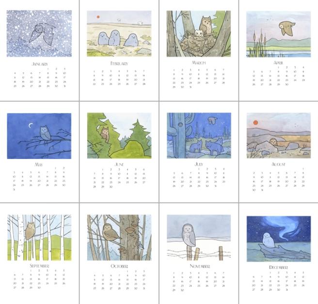 2015 owl calendar