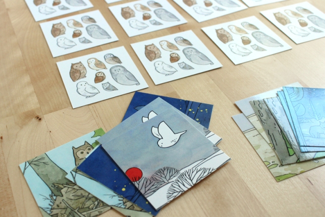 owl art memory game