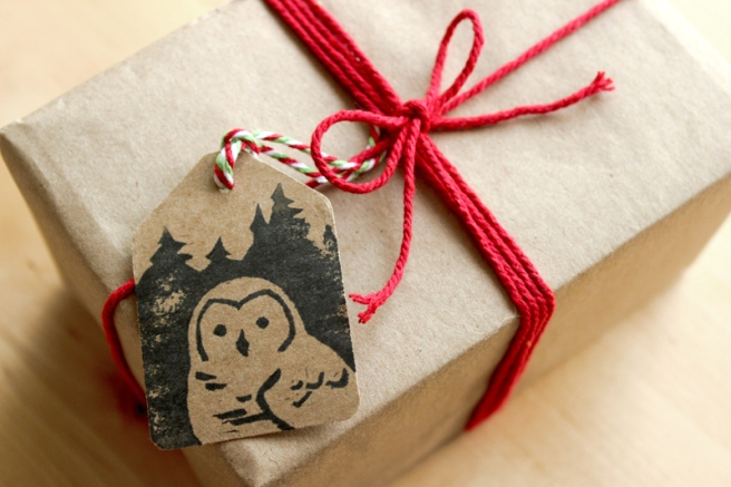 Christmas Owl Tags