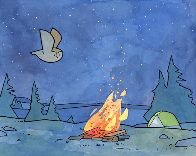 camping illustration